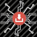 blockchain, centralized management, centralized network, data centralization, data network, network, topology icon