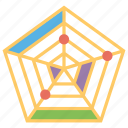 chart infographic, creative chart, modern chart, radar chart, web chart icon