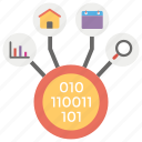 data collection, data integration, data management, data warehousing, transformation icon