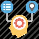 customer account, business customer, customer identification, customization, behavioral data, user data icon