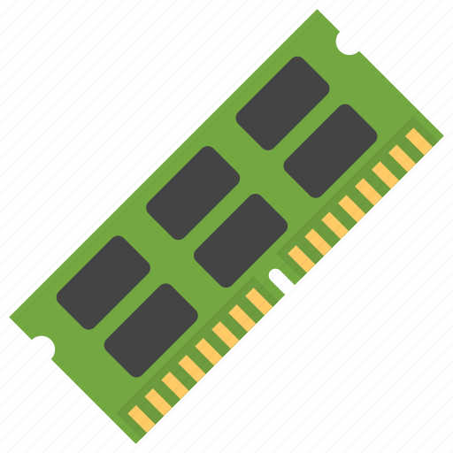 computer chip, internal memory, ram, random access memory, temporary memory icon