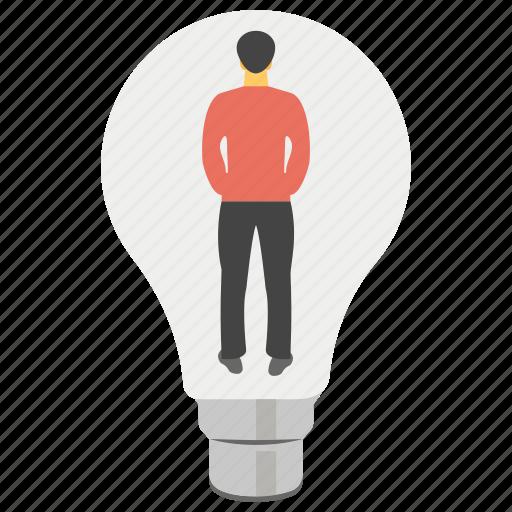 creative idea, creative person, innovative person, personal creativity, personal idea icon