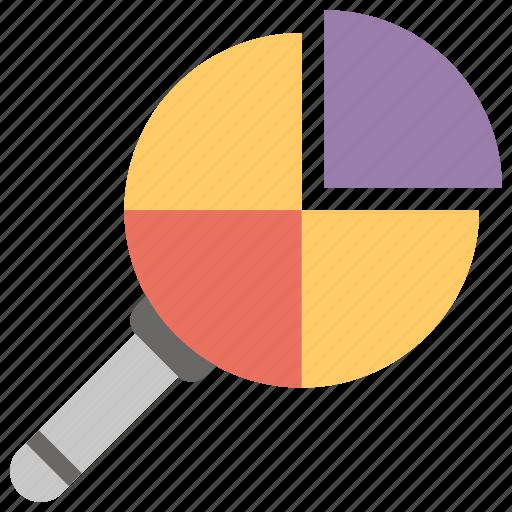 business analysis, market research, pie analysis, pie chart, pie graph icon