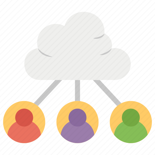 cloud computing, cloud data sharing, cloud data user, cloud hosting, cloud networking icon