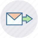 arrow, letter, mail, message, next, right icon