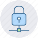 connection, lock, protection, secure, security icon