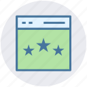 page, rating, star, web, web page, web site icon