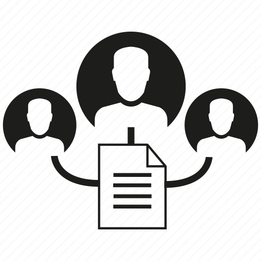 document, human, sharing data icon