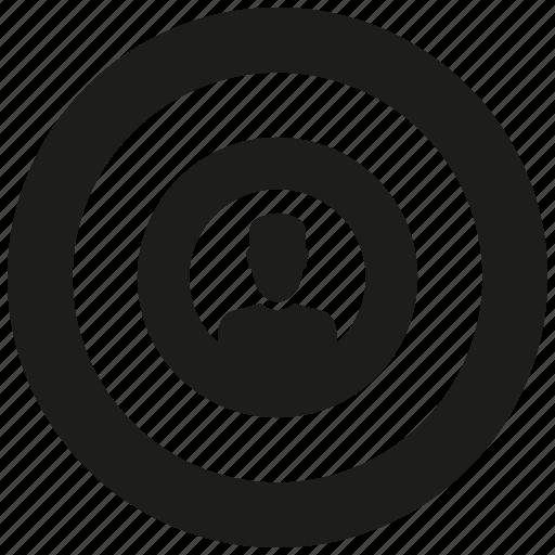 man, target icon