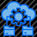 cloud, data, folder, gear
