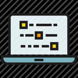 analytics, coding, computer, data, laptop, stats icon
