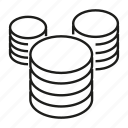database, save, data, hosting, server icon