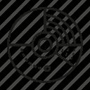 data, pie chart, radar, scan, stats icon