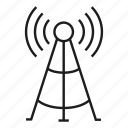 antenna, communication, network, post, signal, tower icon