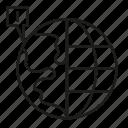 alert, global, globe, world icon