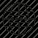 globe, login, password, security, world icon