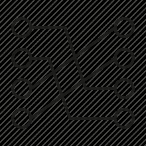 connect, diagram, link icon