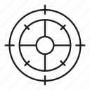 crosshair, dart, focus, target icon