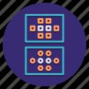 analysis, cluster, data icon