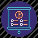 chart, information, presentation, slides icon