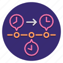 time, chart, timeline icon