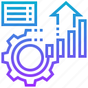 analytic, business, management, performance, process icon