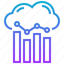 analytics, business, cloud, data, information icon