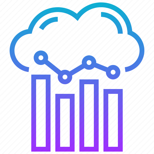 analytics, business, cloud, data, information icon