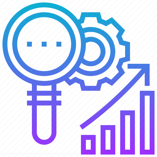 analysis, business, data, inspect, process icon
