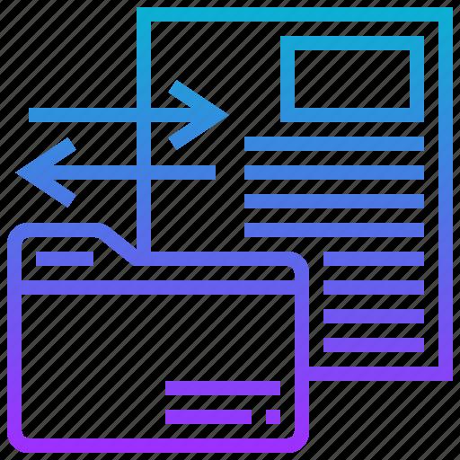 data, exchange, file, folder, transfer icon
