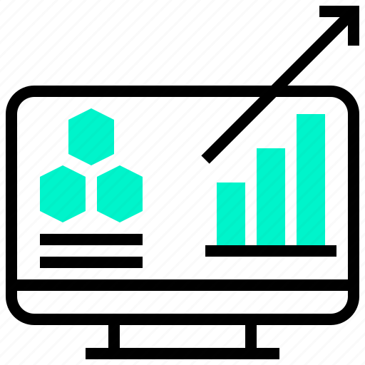 analytic, chart, data, forecast, trend icon