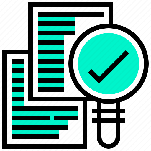 approve, data, information, search, validity icon