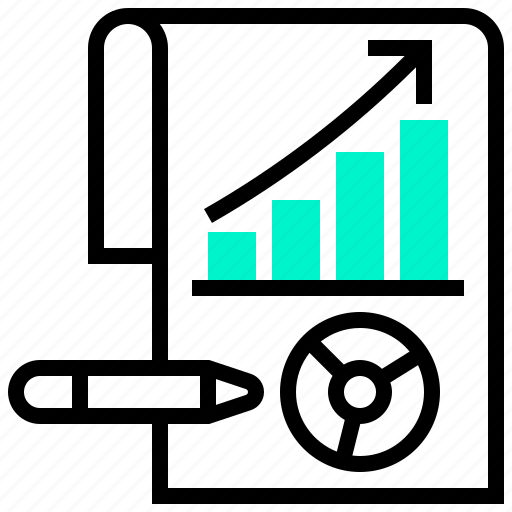 growth, report, statistic, trend, visualisation icon