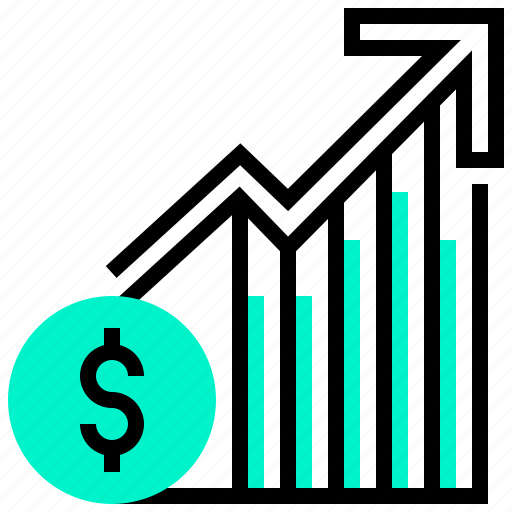 capitalisation, economic, finance, growth, market icon