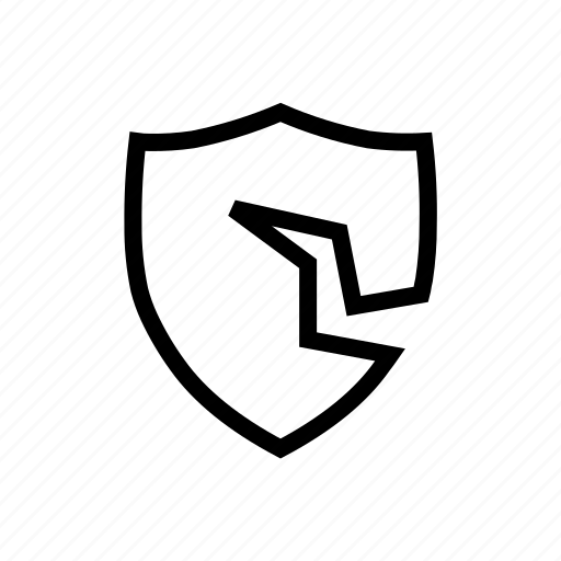 access, breach, cracked, data, hacker, privacy, security icon