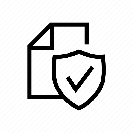 data, document, privacy, protected, secure, shield icon