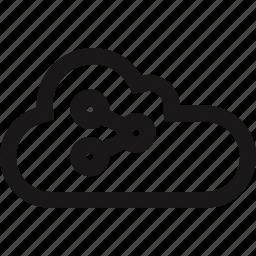 cloud, communication, data, server icon