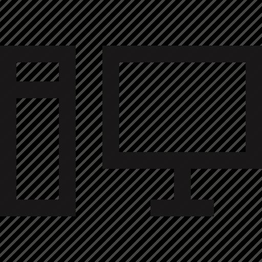 communication, computer, data, station icon