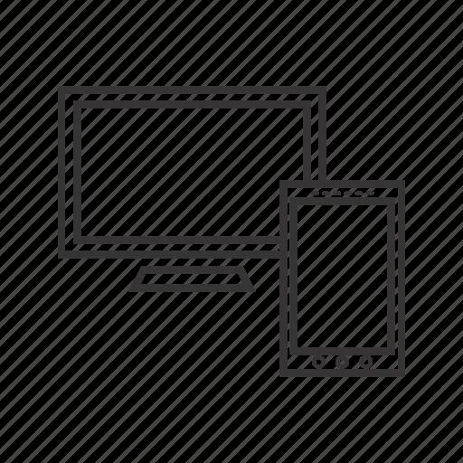 mobile screen, monitor, screen icon