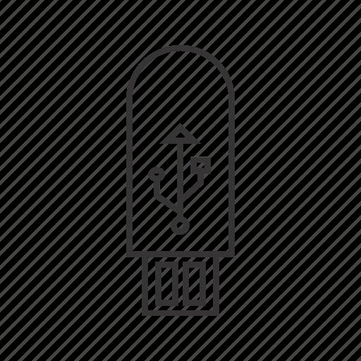 storage, u.s.b icon