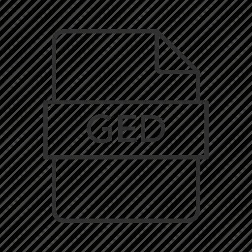 ged, ged file, ged icon, gedcom genealogy, gedcom genealogy data file, genealogy icon
