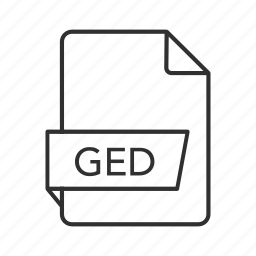 ged, ged file, ged file icon, ged icon, gedcom genealogy, gedcom genealogy data, gedcom genealogy data file icon