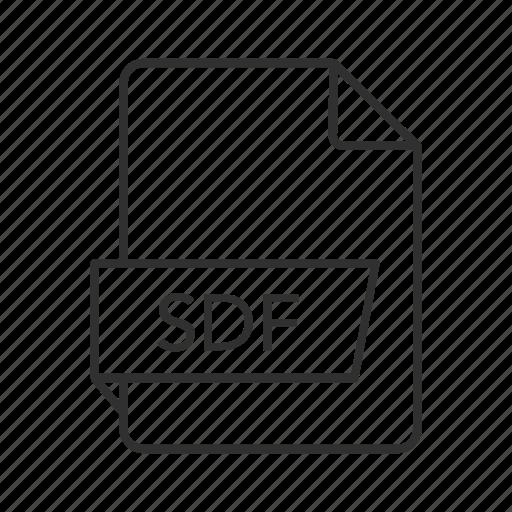 data, data file, sdf, sdf file, sdf icon, standard data, standard data file icon