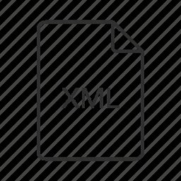 file type, xml, xml file, xml file icon, xml file type, xml icon icon
