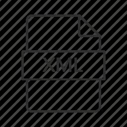 file, xml, xml file, xml file icon, xml file type, xml icon icon