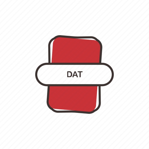 dat, dat file, extension icon