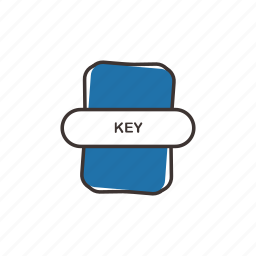 doc, extension, file, key, office icon