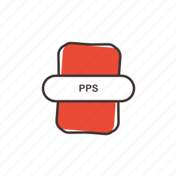 doc, extension, file, office, pps icon