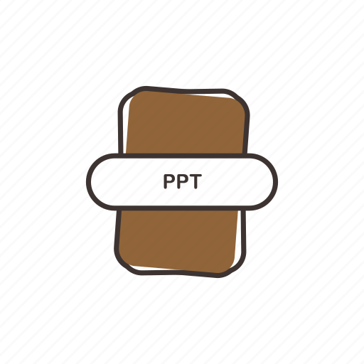 extension, office, powerpoint, ppt icon