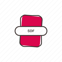 extension, sdf, sdf file format icon